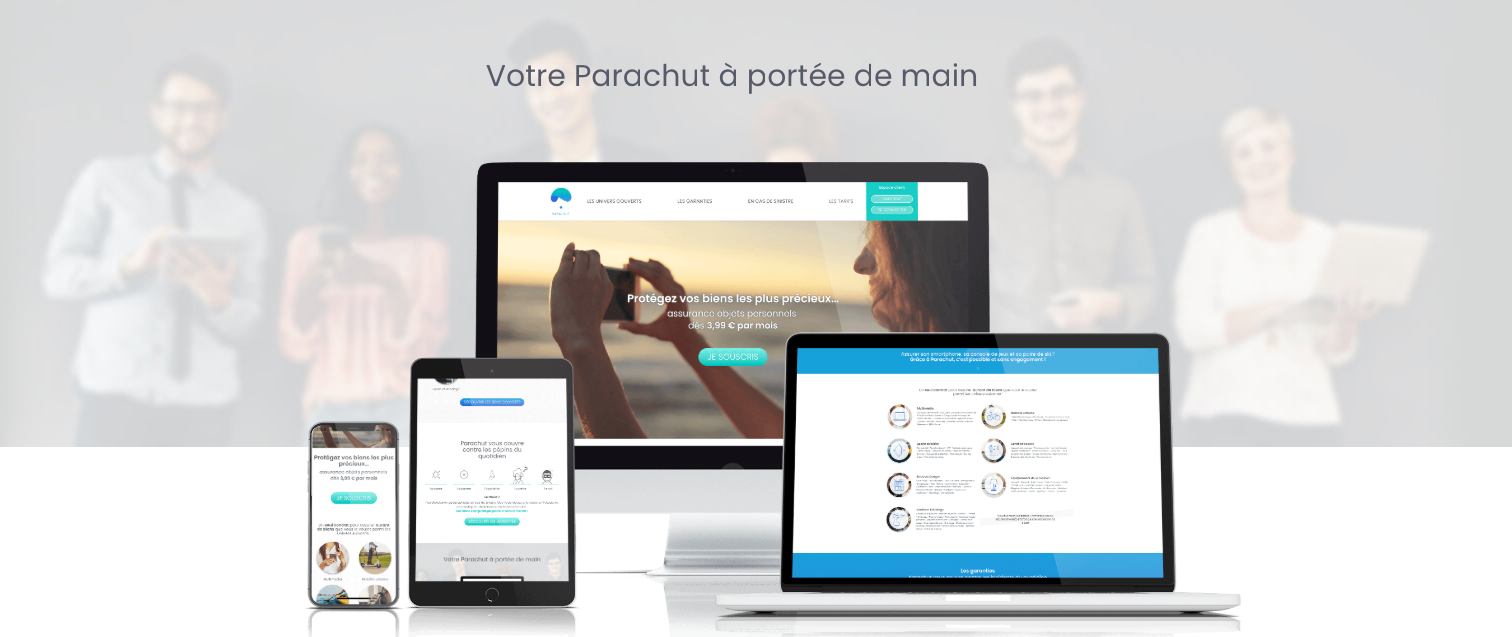 interface Parachut en ligne